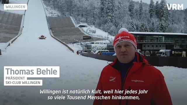 Vorbereitungen zum Skispringen in Willingen