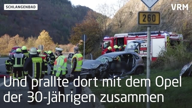 Tödlicher Unfall auf B260 bei Schlangenbad