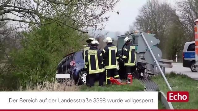 Schwerer Unfall auf der der L 3398 bei Heppenheim
