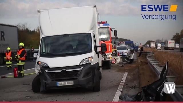Schwerer Verkehrsunfall auf A3 bei Bad Camberg