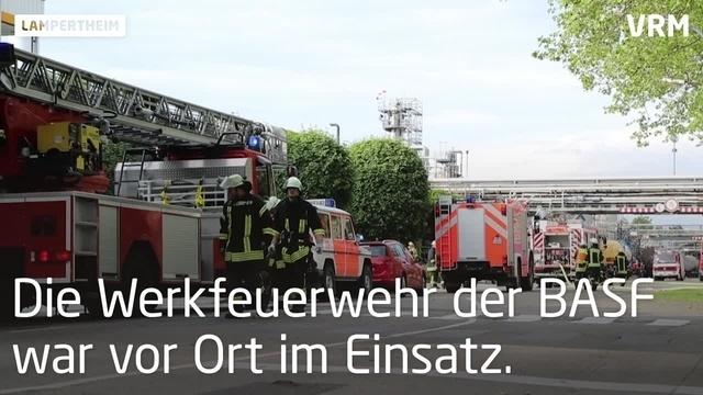 Kleinbrand bei BASF in Lampertheim