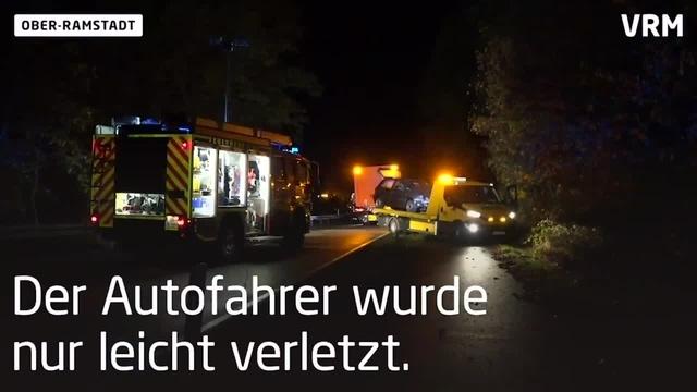 350 Liter Diesel laufen auf B 426 bei Ober-Ramstadt aus