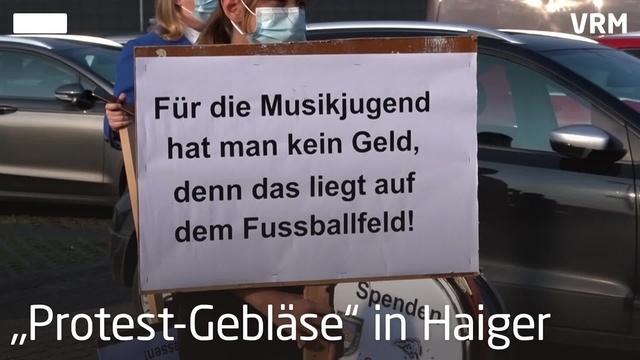 Protest-Gebläse in Haiger