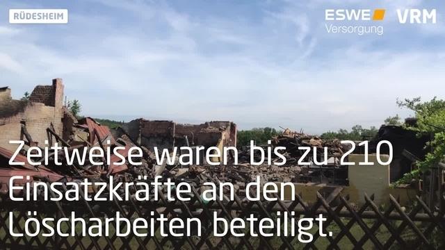 Mehrere Verletzte bei Brand auf Ponyhof in Rüdesheim
