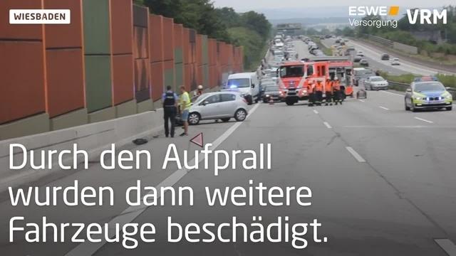 Unfall nach Autorennen auf der A3