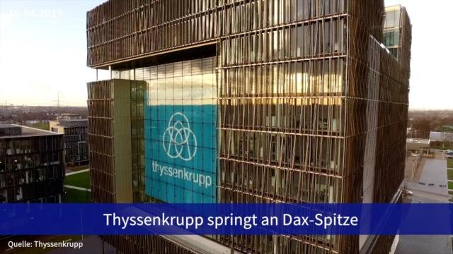 Aktie im Fokus: Thyssenkrupp springt an Dax-Spitze