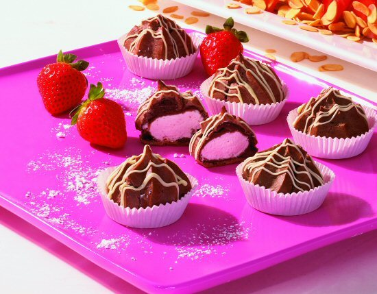 Erdbeer-Profiteroles