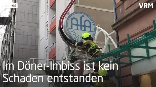Worms: Feuerwehreinsatz in Wilhelm-Leuschner-Straße