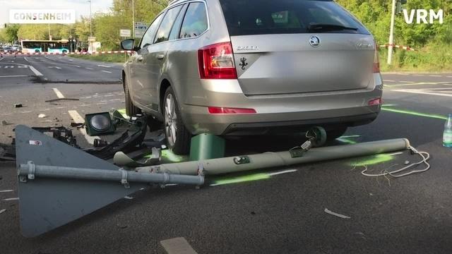Schwerer Autounfall in Gonsenheim