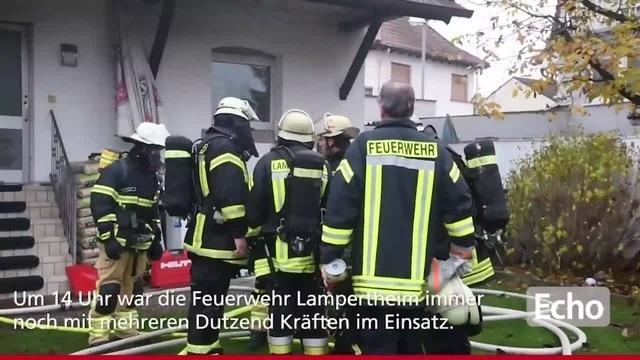 Keller in Lampertheimer Ostendstraße brennt