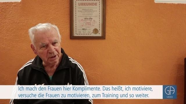 Bodybuidling mit 88 Jahren - Walter Klock aus Gießen