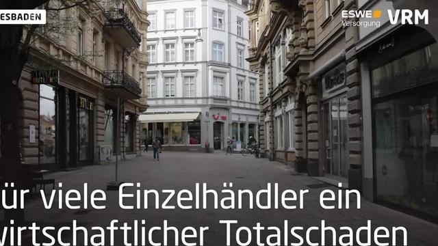 Die Wiesbadener Innenstadt in Zeiten von Corona