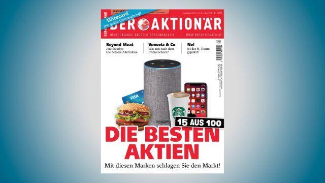 DER AKTIONÄR Nr. 25/19: 15 aus 100 - mit diesen Marken schlagen Sie den Markt