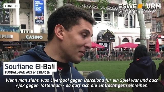 Eintracht-Fans in London: Tippabgabe vor dem Spiel