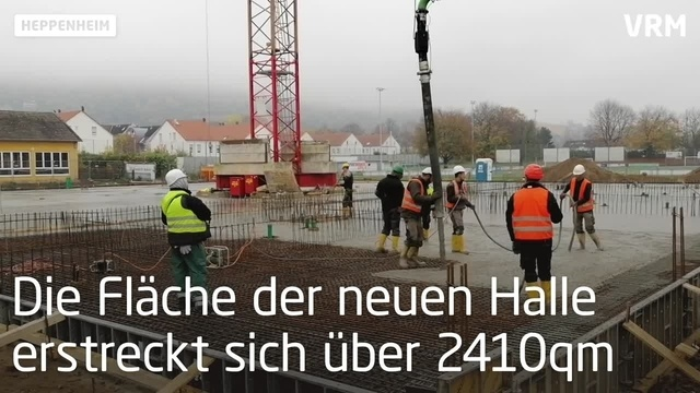 Neubau der Heppenheimer Nibelungenhalle schreitet voran