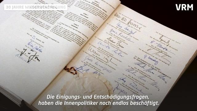 Schäuble und die Wiedervereinigung