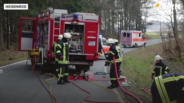 Schwerer Unfall bei Heidenrod