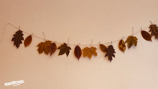 Mach mit: Blättergirlande