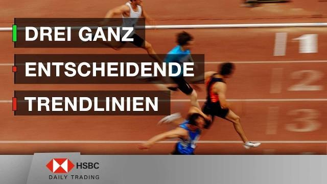 Drei ganz entscheidende Trendlinien - HSBC Daily Trading TV vom 16.04.2019