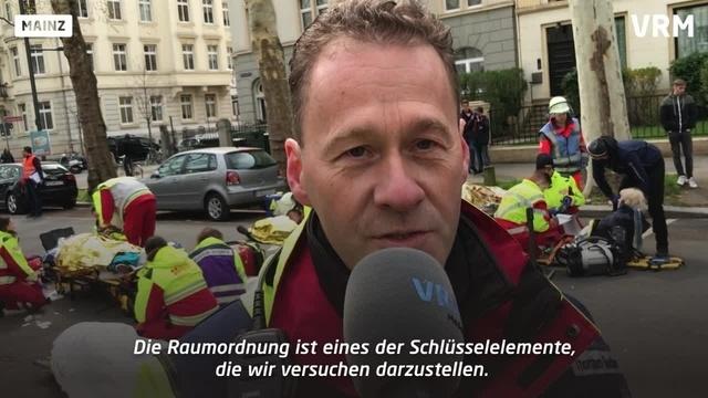 Notfallübung in der Mainzer Neustadt