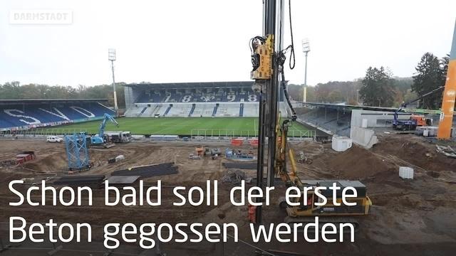 Bauarbeiten am Böllenfalltorstation Darmstadt im Zeitplan
