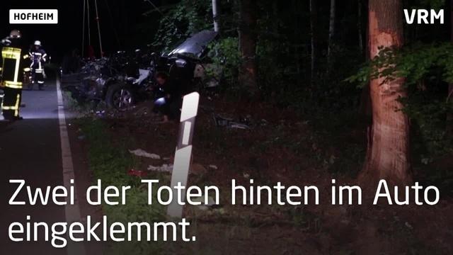 Unfall mit drei Toten bei Hofheim