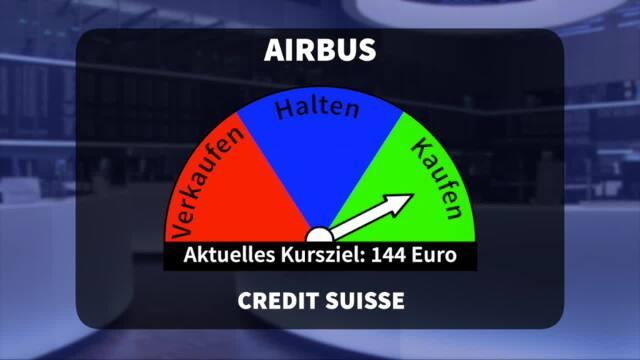 Analyser to go: Credit Suisse hebt Kursziel für Airbus