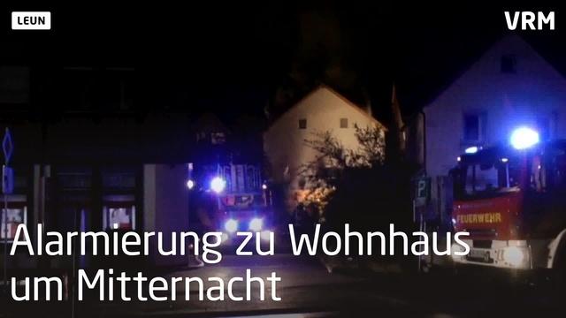 Wohnhausbrand Leun