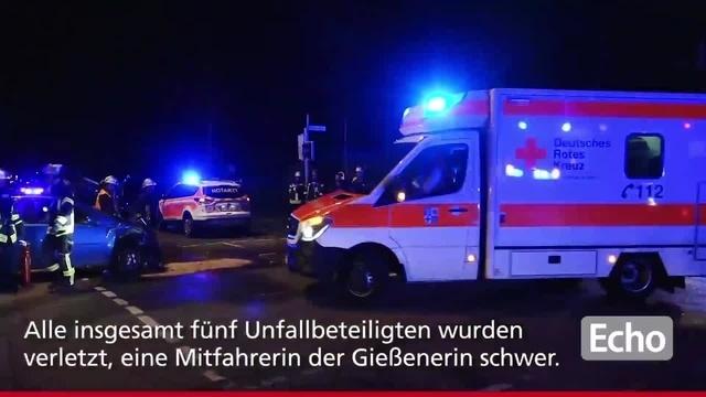 Nächtlicher Unfall in Lampertheim