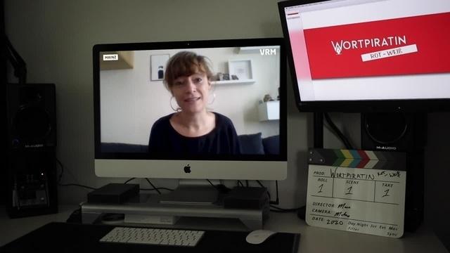 Wortpiratin rot-weiß trifft Daniela Wurbs