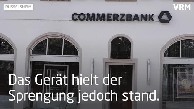 Versuchter Raub in Commerzbankfiliale in Rüsselsheim