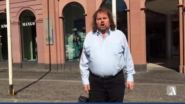 Straßenmusiker in Mainz: Herbert Wüscher