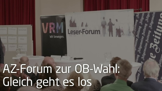 AZ-Forum vor der Stichwahl in Mainz
