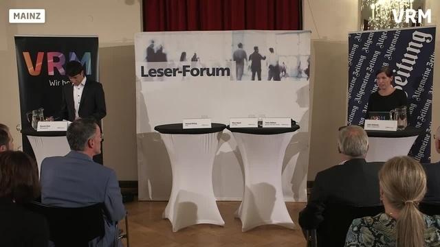 AZ-Forum zur OB-Wahl in Mainz