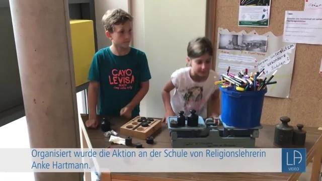 Stifte-Aktion der Lauterbacher Eichberg-Grundschule