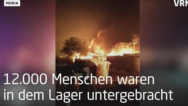Flüchtlingscamp Moria steht in Flammen