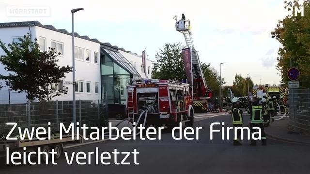 Brand in Wörrstädter Autolackiererei