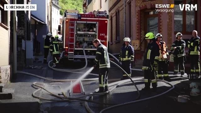 Brand in Lorchhausener Haus
