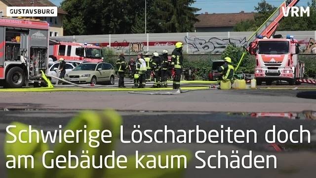 Ein Verletzter bei Brand in Gustavsburg