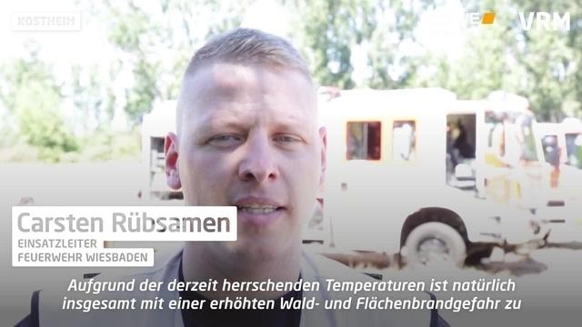 Erneuter Brand am Rheinufer in Kostheim