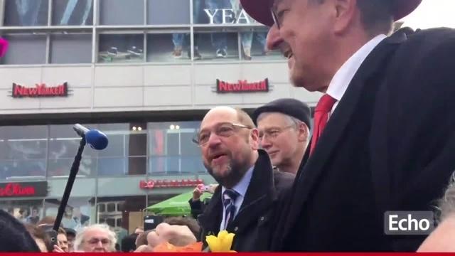 SPD-Kanzlerkandidat Schulz auf Stippvisite in Darmstadt