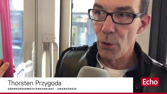 Straßenbahn-Interview zur Darmstädter OB-Wahl mit Thorsten Przygoda (unabhängig)