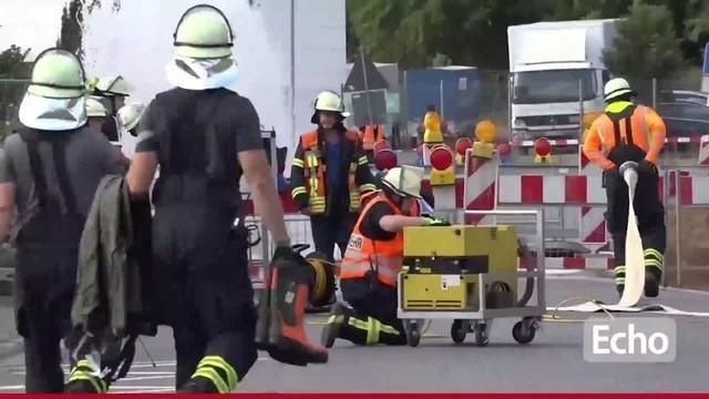 Wasserrohrbruch in Weiterstadt