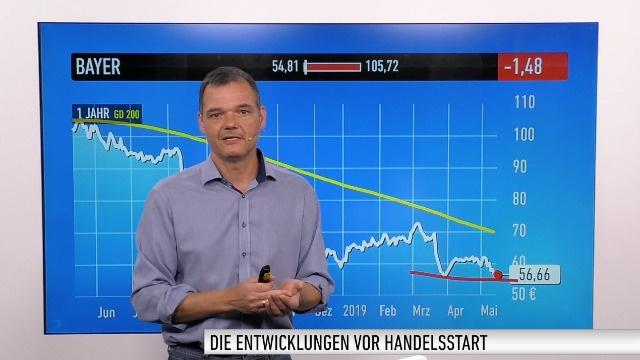 Marktüberblick: Dow Jones, DAX, Bitcoin, Apple, Boeing, Deere, Bayer, ThyssenKrupp, Telekom