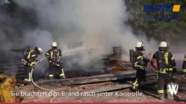 Wiesbaden: Brand am Hafenweg