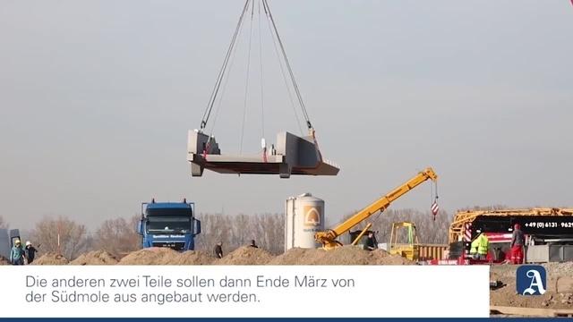 Mainz: Brücke im Zollhafen entsteht