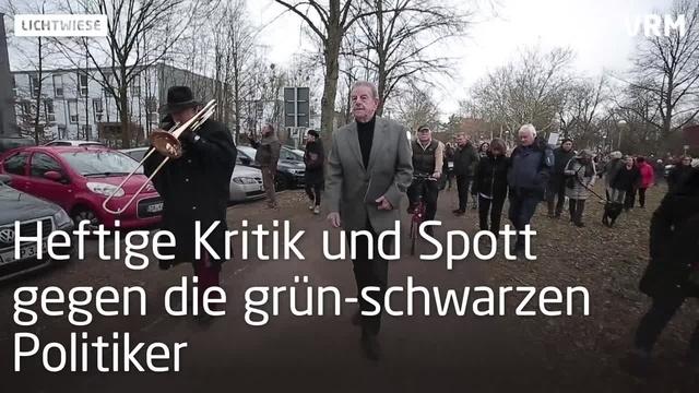 Lichtwiesenbahn: 200 demonstrieren gegen Rodung