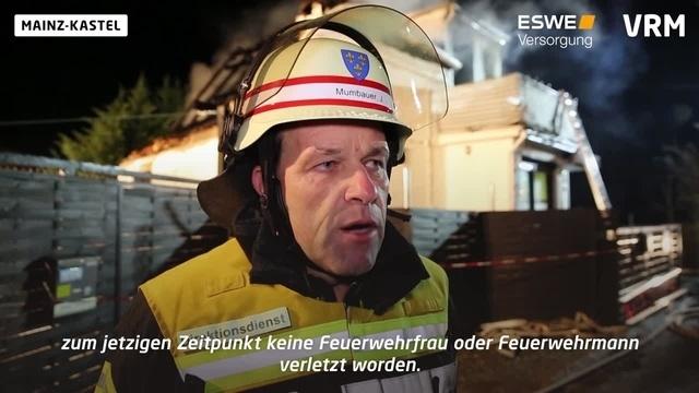 Mainz-Kastel: Wohnhaus nach Brand komplett zerstört