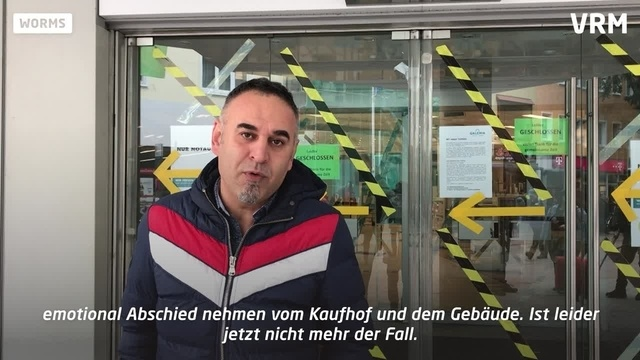 Schwerer Abschied: Kaufhofschließung in Worms