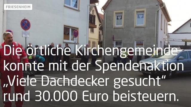 Friesenheim: Kirchturmspitze kehrt zurück